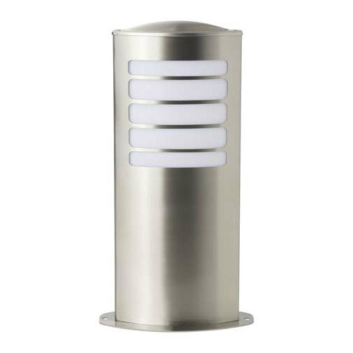 Todd borne d 39 ext rieur argent h40cm luminaire d for Borne luminaire exterieur