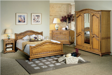 lucy chambre a coucher complete lit armoire commode chevets miroir. Black Bedroom Furniture Sets. Home Design Ideas