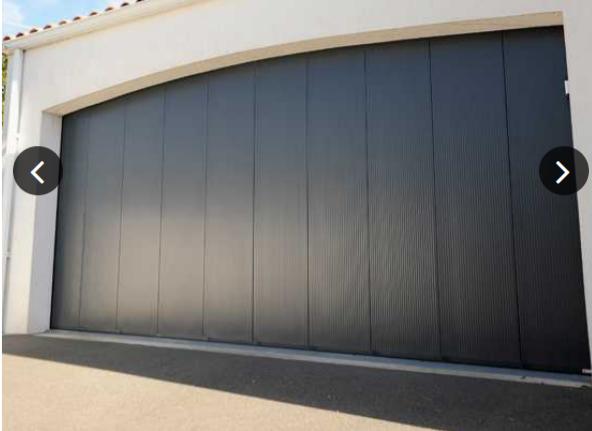 Portes de garage sectionnelles tous les fournisseurs porte garage sectionnelle lat rale - Porte de garage laterale motorisee avec portillon ...