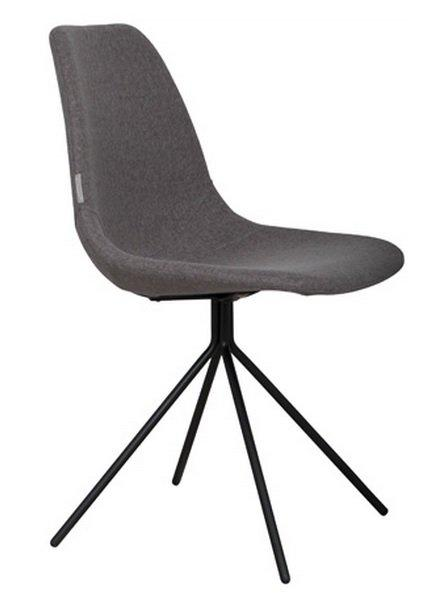 Zuiver chaise fourteen grise pietement chrome for Chaise zuiver