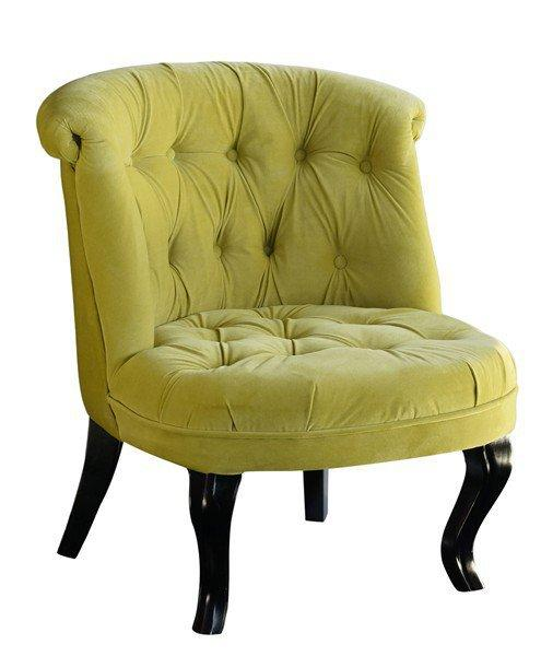 fauteuil capitonne design versailles velours vert anis. Black Bedroom Furniture Sets. Home Design Ideas