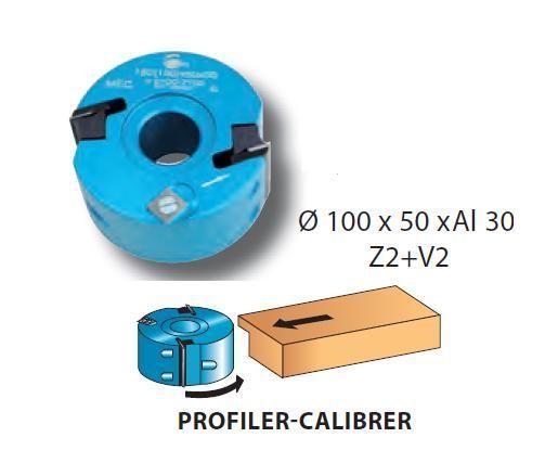 LEMAN - PORTE-OUTILS À PROFILER / FEUILLURER DIAM. 100MM AL. 30 HT. 50MM Z2+V2 - 093.50.30