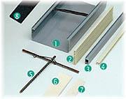 Accessoires pour panneaux de briques de verre profile hu otofix - Profile pour brique de verre ...