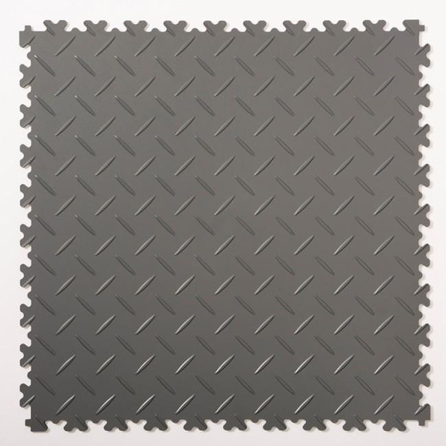 DALLES PVC DIAMANT GRIS FONCÉ USAGE INTENSIF