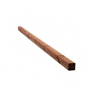 Poteau carré pin brun 6,8x6,8x240 cm