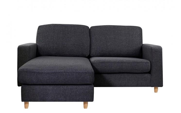 canape d 39 angle reversible 2 places rabat noir. Black Bedroom Furniture Sets. Home Design Ideas