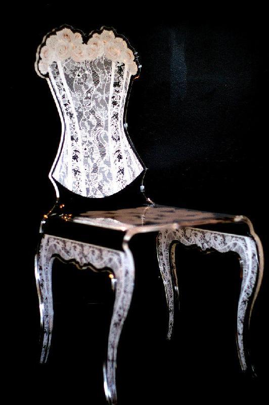 Eman Chaise Design En Plexi Jaune Par Acrila