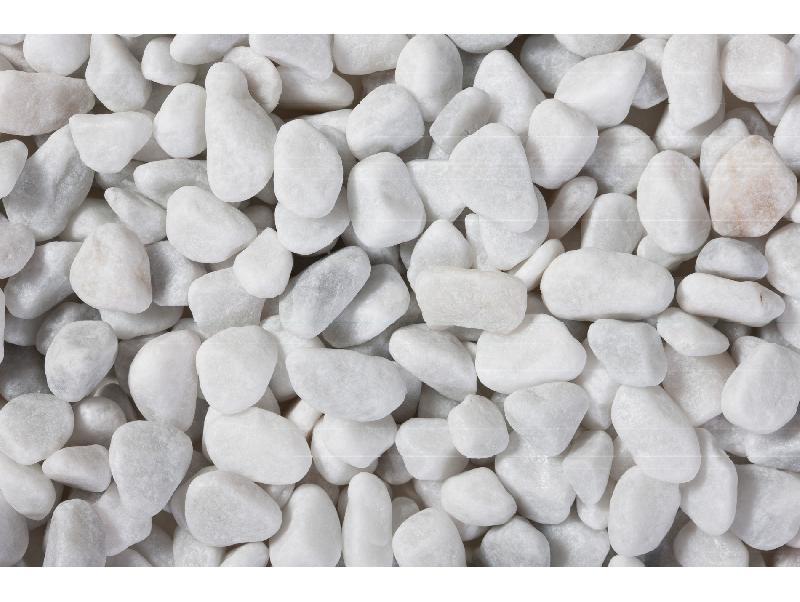 Galets marbre blanc carrare roule 7 15 sac de 25 kg for Marbre de carrare blanc