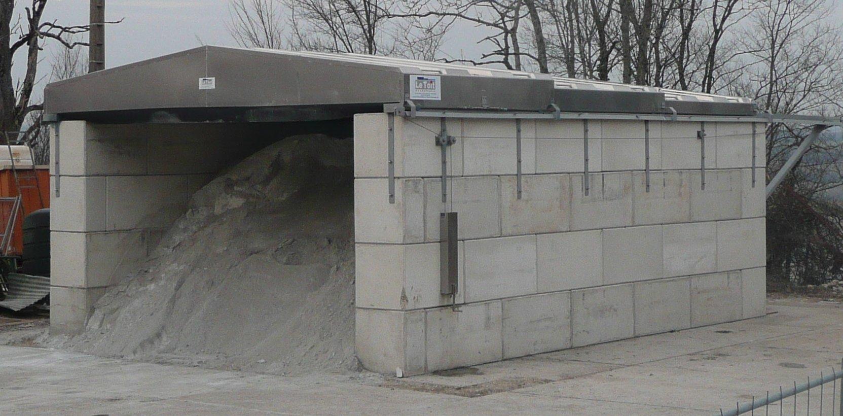 Abri a sel préfabrique 50 à 1000 tonnes