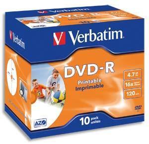 BOITE DE 10 DVD+RW VERBATIM