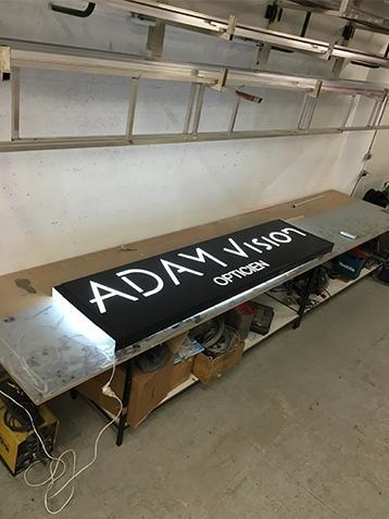 Caisson lumineux aluminium