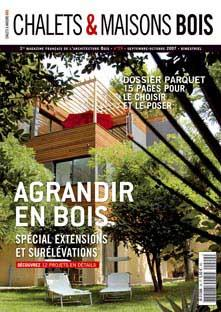 magazine francais d 39 architecture bois chalets maisons bois. Black Bedroom Furniture Sets. Home Design Ideas