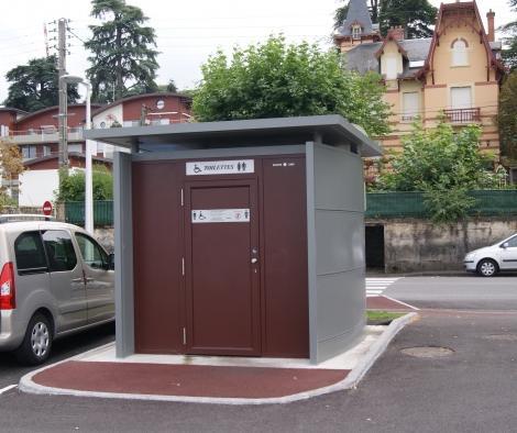 toilettes publiques automatiques module urbain. Black Bedroom Furniture Sets. Home Design Ideas