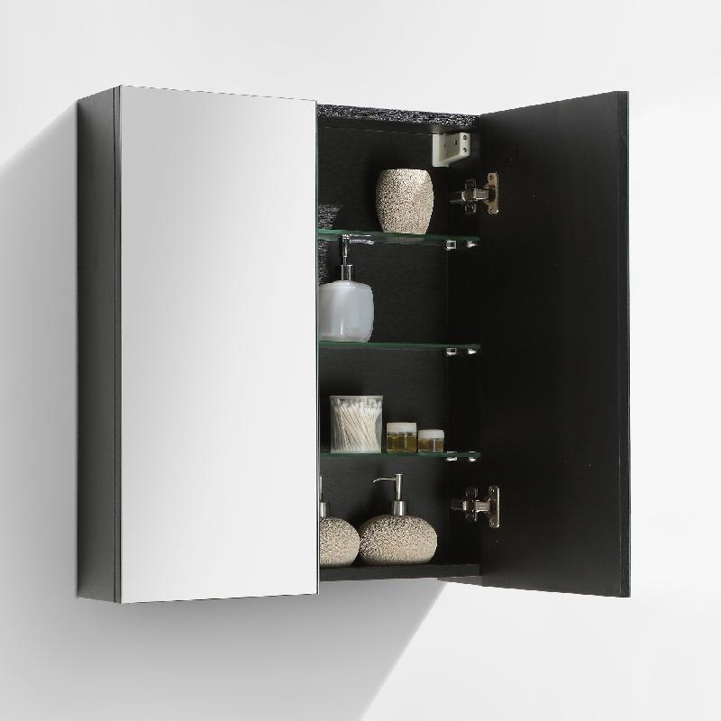 armoire de toilette bloc miroir siena largeur 60 cm ch ne noir comparer les prix de armoire de. Black Bedroom Furniture Sets. Home Design Ideas