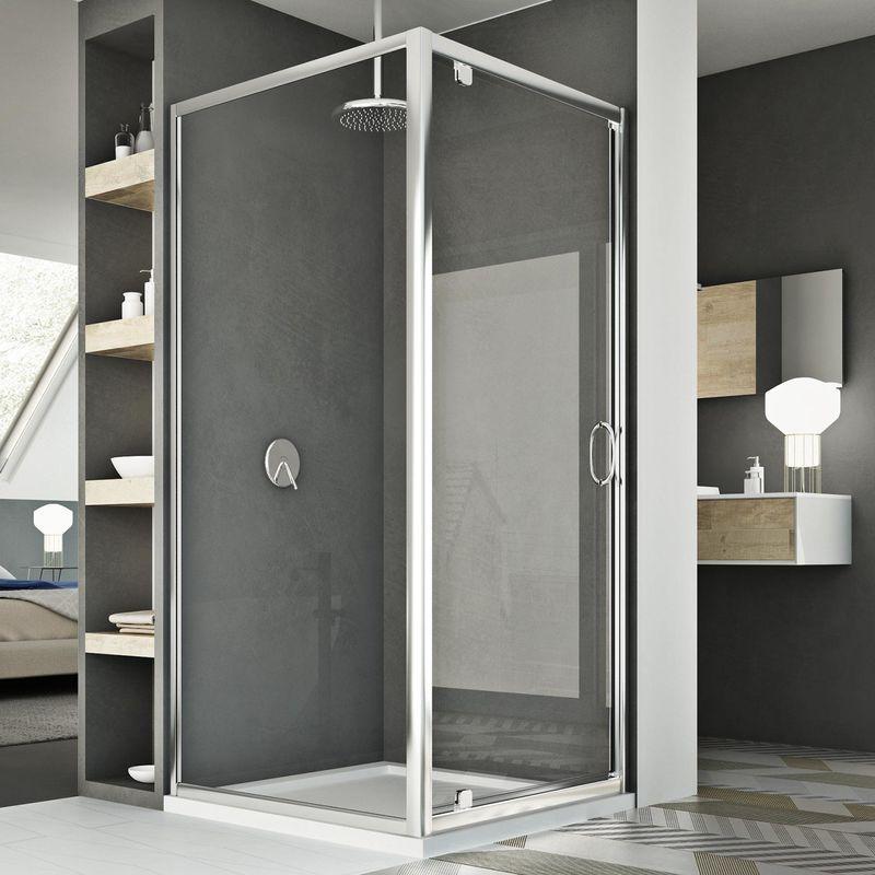 cabine douche 70x80 ap 80 cm h185 transparent mod le sintesi duo 1 portillon idralite. Black Bedroom Furniture Sets. Home Design Ideas