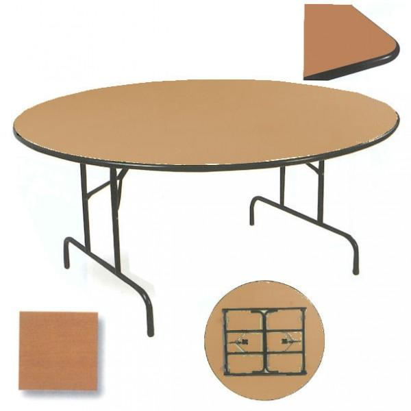 table pliable ronde chant antichoc. Black Bedroom Furniture Sets. Home Design Ideas