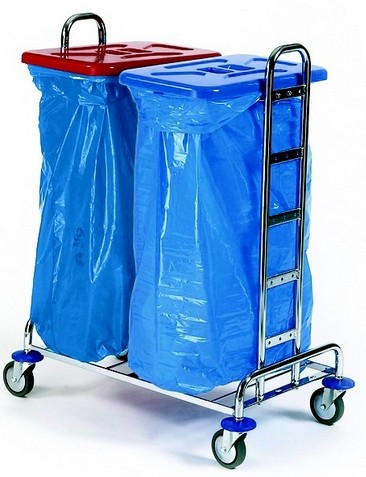 Chariot de tri - 2 sacs poubelle