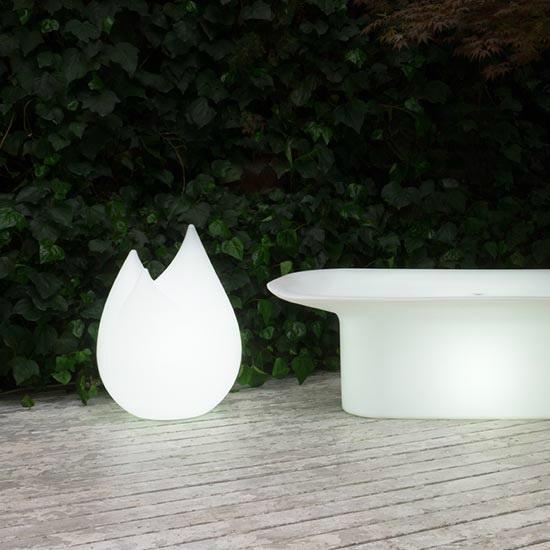 Lampes de jardin serralunga achat vente de lampes de for Luminaire exterieur rechargeable