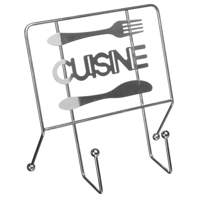Support de livre cuisine 22cm argent - paris prix