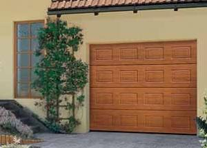 Portes de garage sectionnelles lpu40 a cassettes s decograin for Porte de garage lpu 40