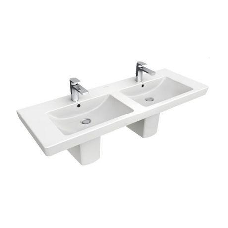 lavabo suspendu double vasque 130cm 39 subway 2 0 39 comparer les prix de lavabo suspendu double. Black Bedroom Furniture Sets. Home Design Ideas
