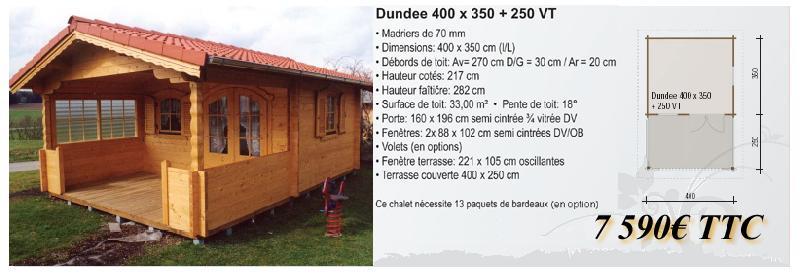 Chalet en bois dundee for Fenetre 80x160