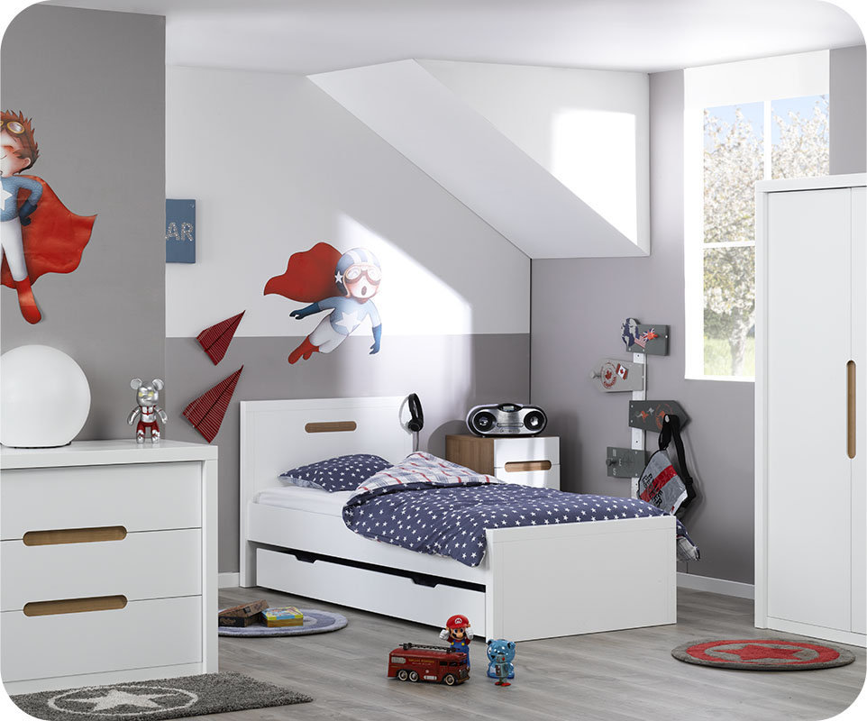 chambre enfant bow blanche. Black Bedroom Furniture Sets. Home Design Ideas