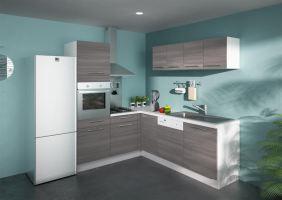 Alize cuisine compl te d 39 angle bois gris comparer les for Cuisine complete bois