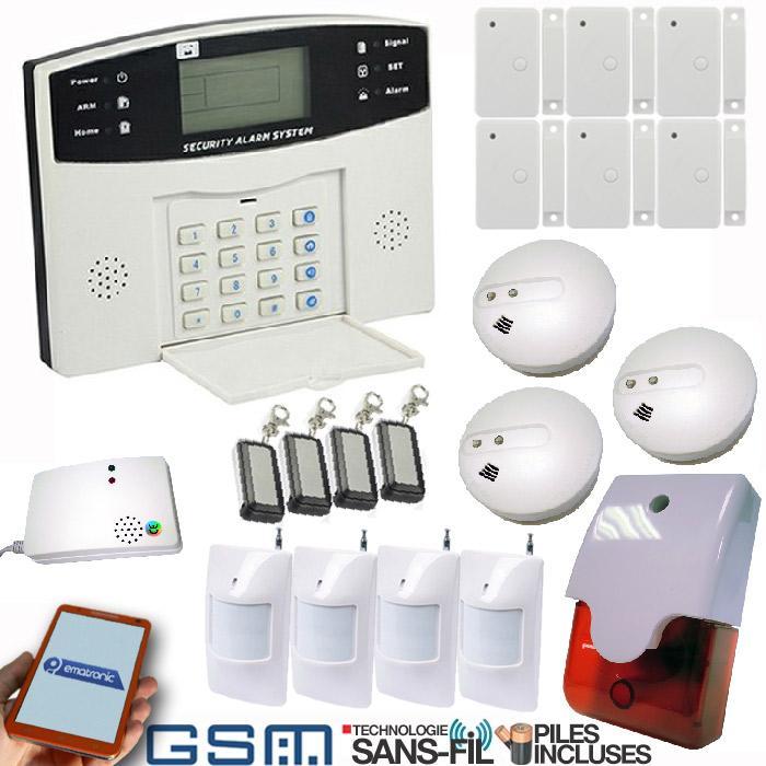 Alarme maison sans fil gsm pack alarme maison sans fil for Alarme maison sans fil gsm