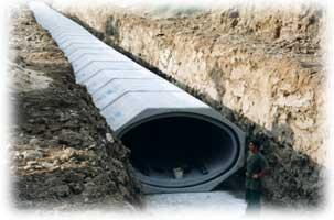 Canalisation pour station d'épuration