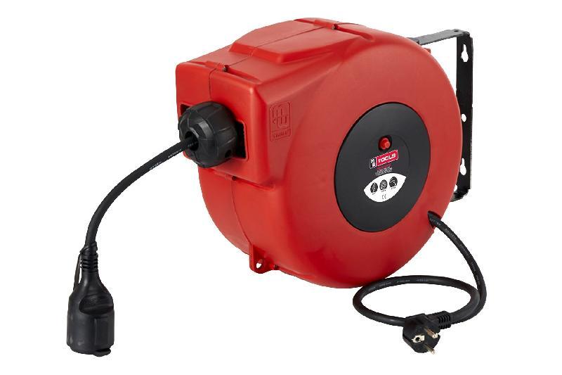 devidoir bobine fil electrique ENROULEUR ÉLECTRIQUE AUTOMATIQUE COMPACT PRO 20M - 3X2,5 MM² MW-TOOLS  HAE32520N