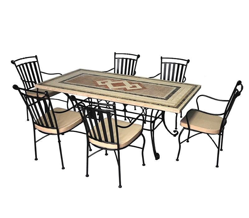 SALON DE JARDIN, 6 CHAISES ET 1 TABLE
