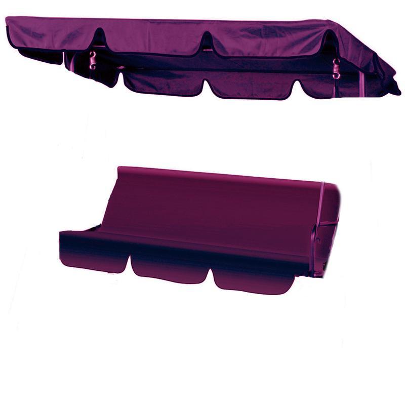 set coussins toit de remplacement pour balancelle 3 places bordeaux neffy stl comparer les. Black Bedroom Furniture Sets. Home Design Ideas