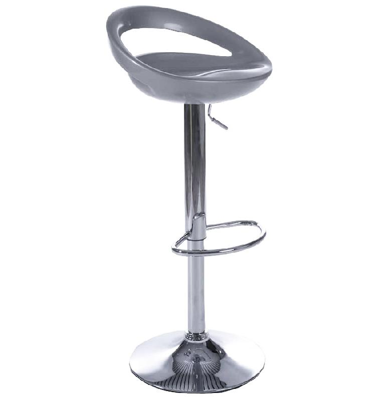 tabouret de bar design 39 comet 39 gris r glable avec dossier comparer les prix de tabouret de bar. Black Bedroom Furniture Sets. Home Design Ideas