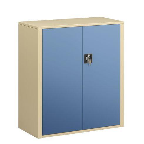 Armoire portes battantes union h 100 cm corps beige for Armoire 100 cm porte coulissante