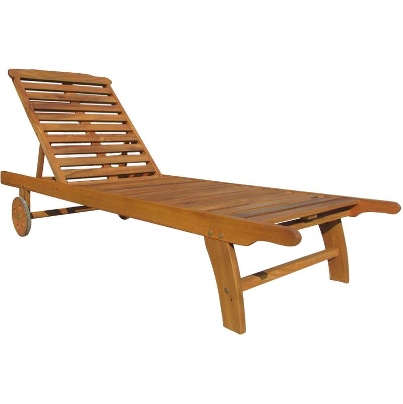 Chaise longue charles bentley achat vente de chaise for Bain de soleil bois pliable