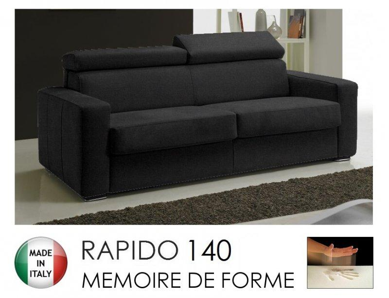 canape rapido sidney memory matelas 140 14 190 cm memoire de forme tweed cross coloris gris. Black Bedroom Furniture Sets. Home Design Ideas