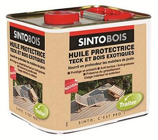 Sintobois huile protectrice teck et bois exotique