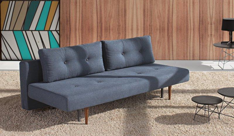 canape convertible lit innovation living recast bleu nist 200 140. Black Bedroom Furniture Sets. Home Design Ideas