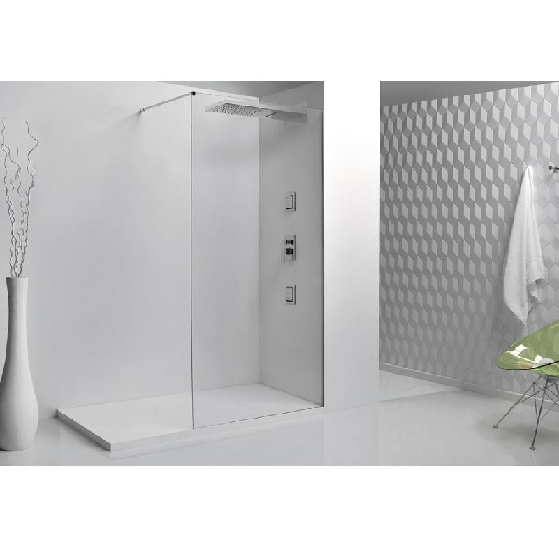 paroi de douche fixe single en verre 8mm 100x200 comparer les prix de paroi de douche fixe. Black Bedroom Furniture Sets. Home Design Ideas