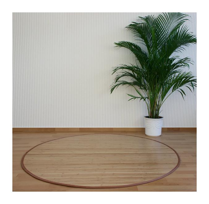 tapis rond en bambou brun 200 cm pegane comparer les prix de tapis rond en. Black Bedroom Furniture Sets. Home Design Ideas