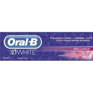 oral b dentifrice 3dwhite brilliance 75ml elimine les taches et protege doux pour l 39 email. Black Bedroom Furniture Sets. Home Design Ideas