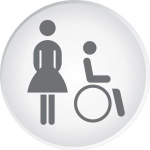 panneau toilettes femmes handicap s pmr comparer les prix de panneau toilettes femmes. Black Bedroom Furniture Sets. Home Design Ideas