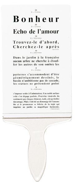 ECHELLE DE PARINAUD POUR LETTRÉS