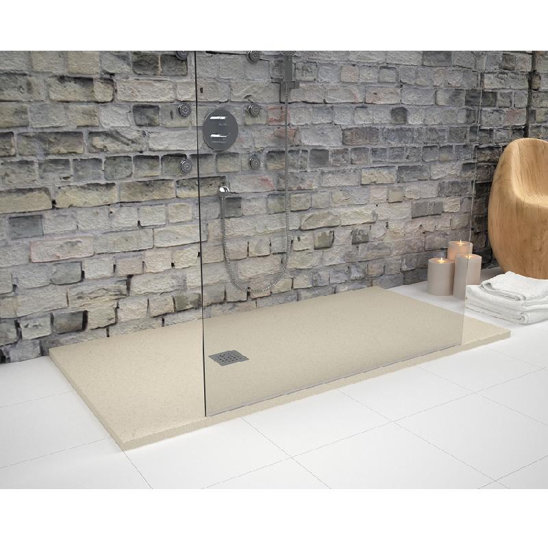 receveur de douche 80 x 150 cm extra plat strato surface ardois e rectangulaire beige comparer. Black Bedroom Furniture Sets. Home Design Ideas