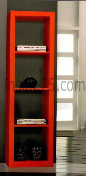gloss bibliotheque etagere laque rouge design petit modele. Black Bedroom Furniture Sets. Home Design Ideas