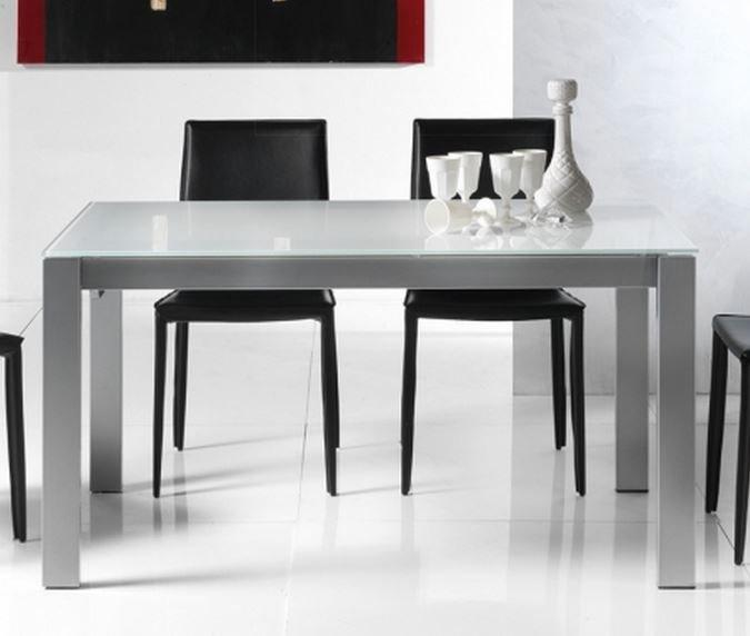 table repas extensible twelve 140 x 85 cm verre extra blanc. Black Bedroom Furniture Sets. Home Design Ideas