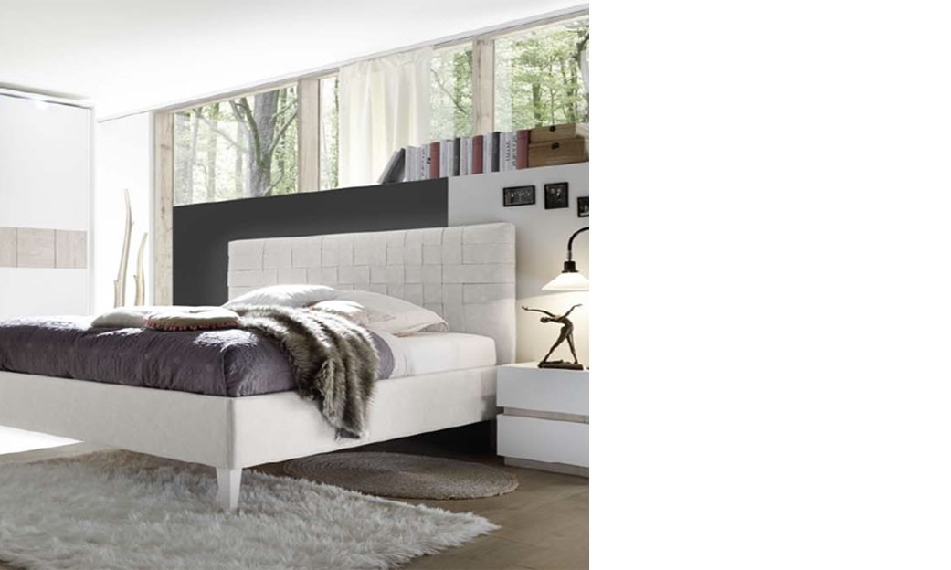 chambre adulte laque blanc et couleur bois beige moderne meno. Black Bedroom Furniture Sets. Home Design Ideas