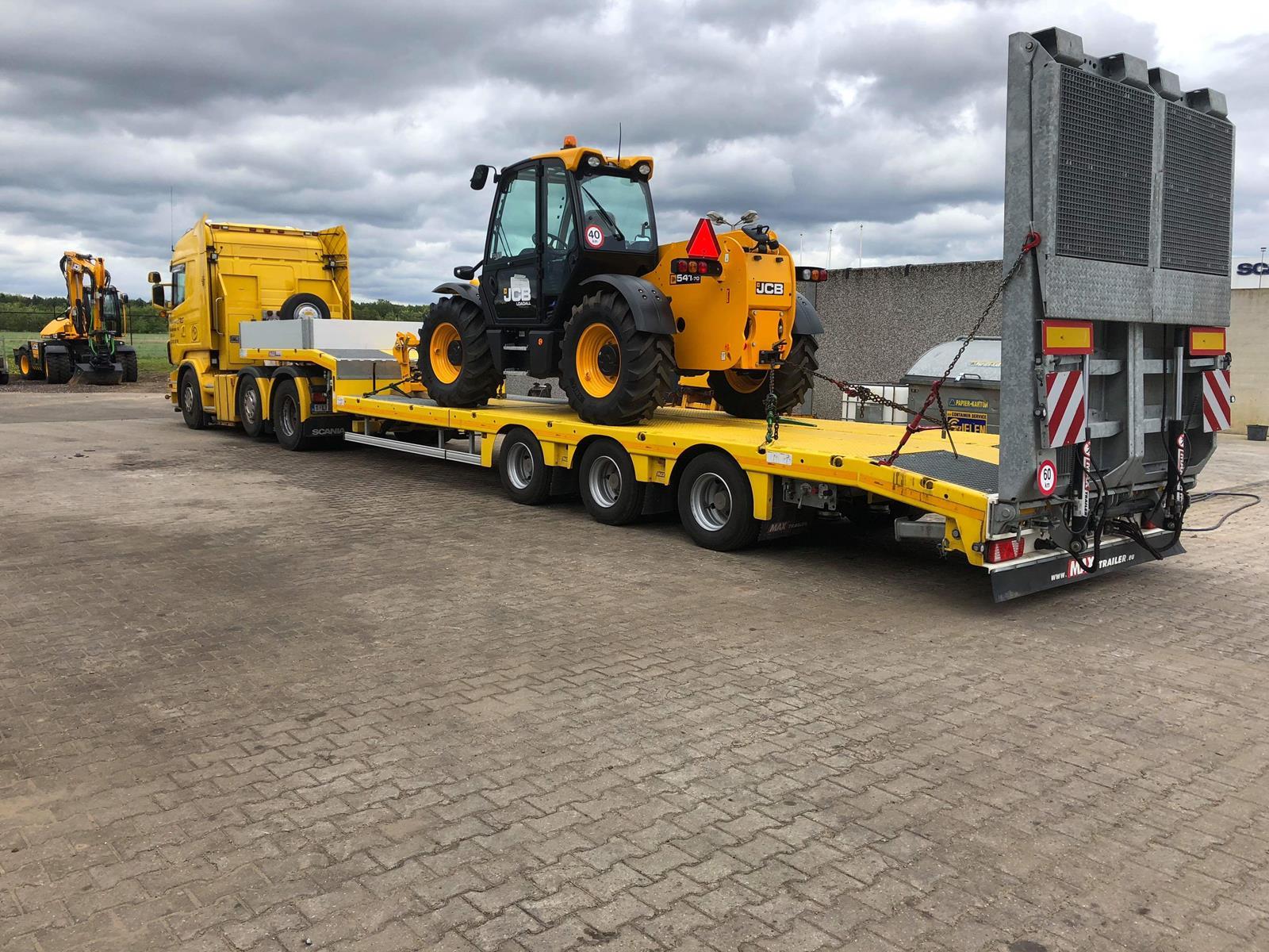 Semi-remorque surbaissée max trailer max100 - 2 à 6 essieux