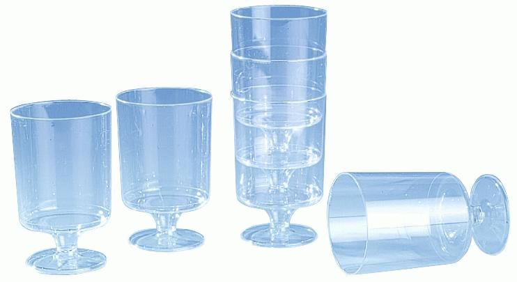 verre pied plastique cristal 12 unit s comparer les. Black Bedroom Furniture Sets. Home Design Ideas